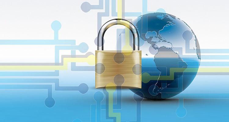 Imagen de un candado representando la encriptación de datos