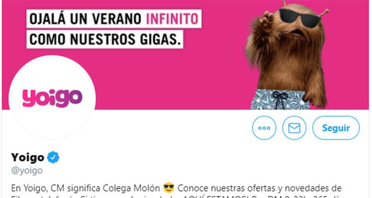 Imagen de marca de Yoigo en Twitter